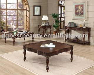C014A-001 Wooden coffee table set coffee table dining table combination high end coffee tables coffee table set