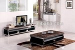 2014 new design marble top stainless steel frame coffee table
