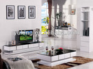 2014 new design tempered glass top MDF frame coffee table