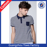 2014 100% Cotton Custom Stripe Polo T Shirt For Men