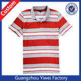 Bulk 100% Polyester Dri Fit Stripe Polo For Men