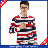 Fashion Cheap Stripe Polo T Shirt Wholesale For Guangzhou