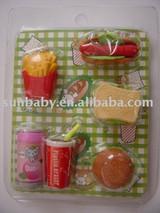 3D Faset Food Erasers