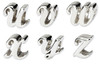 925 Sterling Silver beads for making bracelet and necklace,alphabet charm bracelet beads