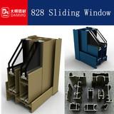 828 aluminum office sliding window