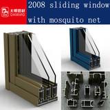new design standard aluminum sliding windows with mosquito net