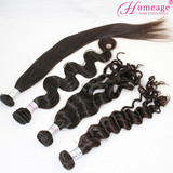 homeage wholesale natural 24inch straight, body wave, wavy, curly, brazilian hair bundles