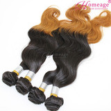 Homeage 2014 best hot sale european sew in human hair weave ombre hair