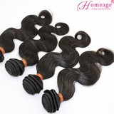 Homeage natural hair extensions darling hair extension wholesale top virign brazilian hair extension