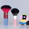 Acrylic handle of different color and patteren makeup neck brush/tollet cosmetic brush