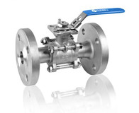 3PC Type Ball Valve With Flange High Mounting Pad