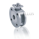 Wafer Type Flange Ball Valve With High Mounting Pad