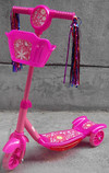 mini kids pedal three wheel kick kids scooter with customized music& light