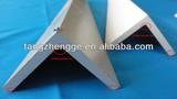 Extruded L shape plastic profile