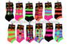 12 pairs women's multi fashion designed ankle socks