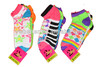Women's bright coloured fashion ankle socks