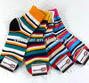 4 pairs Women' quarter striped ankle socks