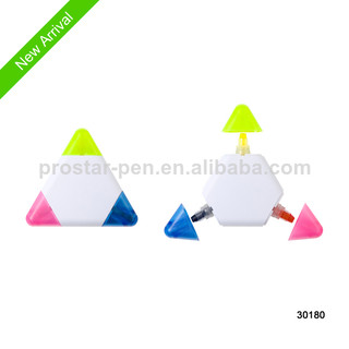3 in 1 gel solid highlighter with triangle shape