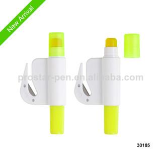 gel solid highlighter with knife paper opener