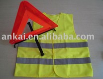 warning triangle safety vest,safety vests,roadway safety vests