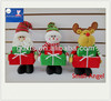 """2014 New Christmas product 14""""Standing Santa claus/Snowman/Reindeer holding Gife"""
