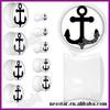 Acrylic White Black Anchor Flag Saddle ear Plugs wholesale