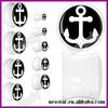 Acrylic Black White Anchor Saddle ear Plugs Wholesale