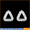 platinum plated triangle earring designer 2014