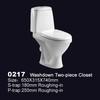 0217 Russian bathroom washdown two piece toilet