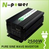 2500W Pure Sine Wave DC12V or 24V 48V 96V to AC110V 220VAC Power Inverter, power supply, car use, household