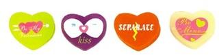 heart shape eraser for child