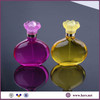 50ml colored bottle perfume glass bottle with flower cap