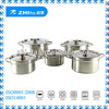 10pcs stainless steel cookware pot/10pcs stock pot