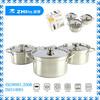6pcs stainless steel african cookware set/cookware pot/16-18-20cm/18-20-22cm/20-22-24cm