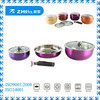 6pcs original stainless steel color changing cookware