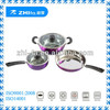 5pcs color coating stainless steel cookware set for sale
