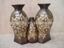 cameo flower with decal ceramic low temperation vase
