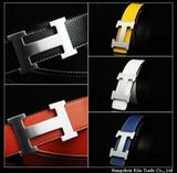 New arrival mens duble side cow genuine leather belt many colour Plate buckle belts