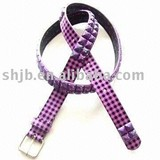 purple color pyramid belt pu
