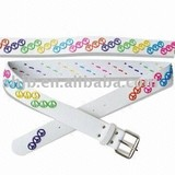 bright color of beads kid belt
