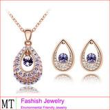 High Quailty Tear Shape Pendant Jewelry Fashion Metal Jewelry Set