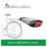 36V 10Ah Back seat type Li-ion Battery Pack for E-bike