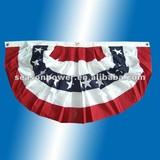 Pleated Fan American flags