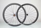 40mm U-shape clincher fat carbon road wheels,UD matte carbon fiber bicycle wheels,china bicycle wheels