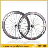 Aero road bike carbon fiber wheels,25mm rim width carbon wheels clincher