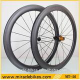 700C 56mm road bike Clincher carbron wheels, UD matt 25mm width carbon fiber wheels