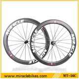 Newest Toray full carbon 56mm road bicycle carbon wheels,carbon bike wheels clincher and tubular