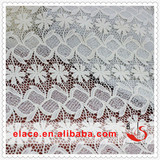 Swiss African full embroidery dry fabric 100% cotton fabric flower lace