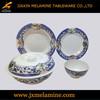 14pcs white and blue design melamine dinner set