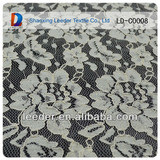 2014 fashion cord lace fabric/eyelash cord lace embroidery fabric for neck designs for ladies suit